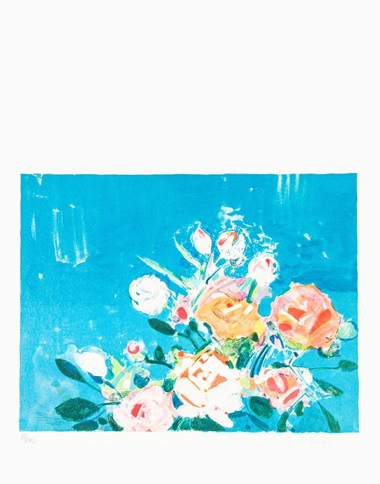 Les roses sur la mer