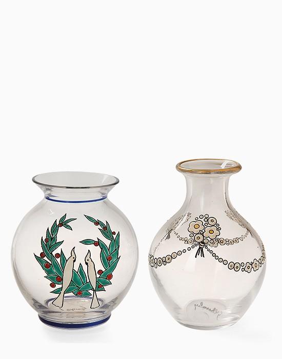 Deux vases en cristal
