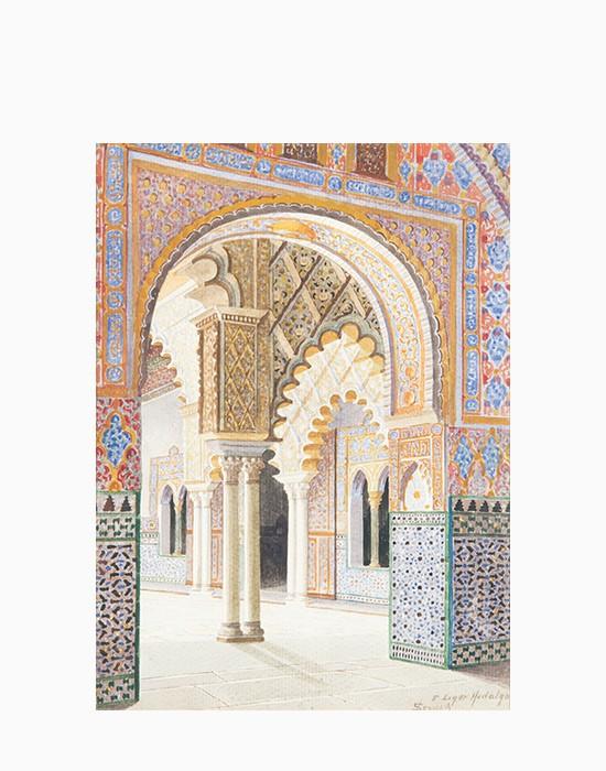 Vue de l'Alcazar à Seville