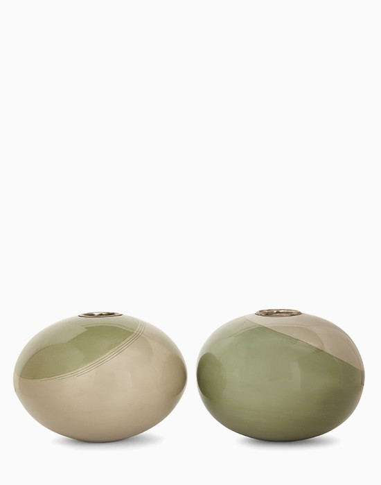 Pair of ball vases
